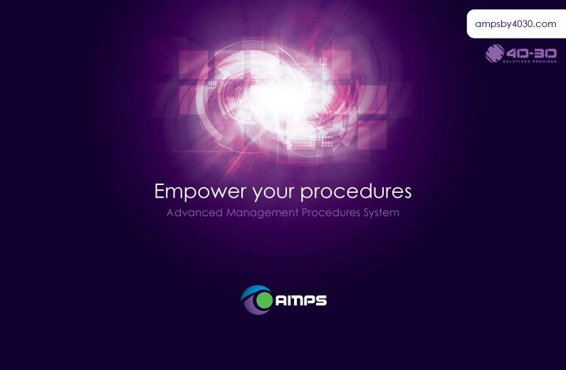 Brochure du logiciel AMPS