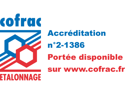 Metrology laboratory certified by COFRAC