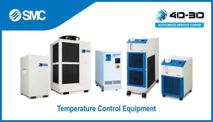 Temperature regulation via heat transfer fluid, Chiller SMC